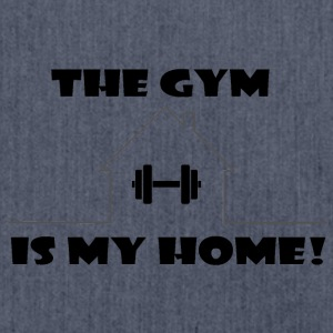 The Gym is my home - Schultertasche aus Recycling-Material