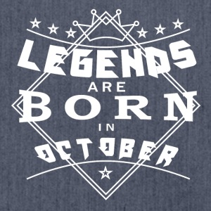 Legends October born birthday gift birth - Shoulder Bag made from recycled material