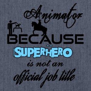 Animator because superhero is not a job title - Schultertasche aus Recycling-Material