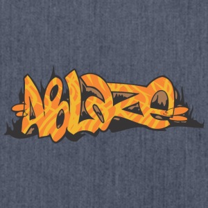 ablaze graffiti - Shoulder Bag made from recycled material