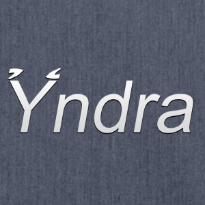 Yndra-Logo'3'-White - Shoulder Bag made from recycled material