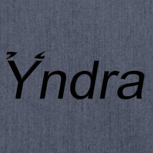 Yndra-Logo'3' Black - Shoulder Bag made from recycled material
