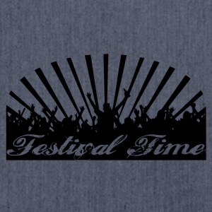 Festival Time Logo - Schultertasche aus Recycling-Material