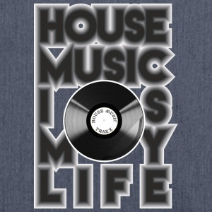 House Music is my life - Schultertasche aus Recycling-Material