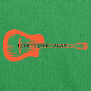 guitar live love play - Shoulder Bag made from recycled material