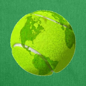 tennis ball planet earth globe tennis ball earth - Shoulder Bag made from recycled material