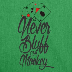 Never Bluff a Monkey Poker Shirt - Schultertasche aus Recycling-Material