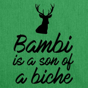 Bambi is a son of a doe - Shoulder Bag made from recycled material