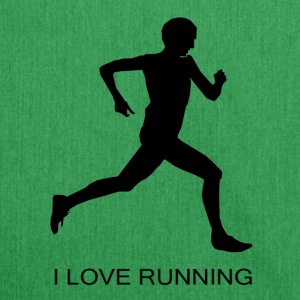 I Love Running - Schultertasche aus Recycling-Material