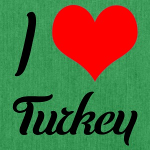 I love Turkey - Schultertasche aus Recycling-Material