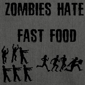 Zombies hate Fast Food - Schultertasche aus Recycling-Material
