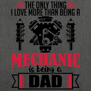 Mechanic Dad - funny fathers day gift - Shoulder Bag made from recycled material