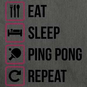 Eat Sleep Ping Pong Repeat - table tennis - Schultertasche aus Recycling-Material