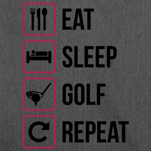 Eat Sleep Golf Repeat - Shoulder Bag made from recycled material