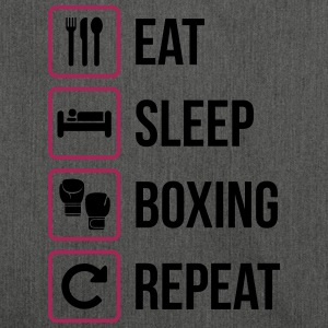 Eat Sleep Boxing Repeat - Borsa in materiale riciclato