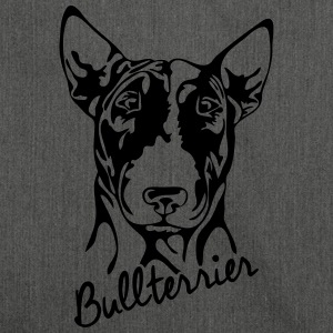 BULL TERRIER PORTRAIT - Shoulder Bag made from recycled material