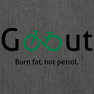 Go out - Geh raus und fahre Fahrrad. - Schultertasche aus Recycling-Material