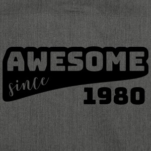 Awesome since 1980 / Birthday shirt - Shoulder Bag made from recycled material