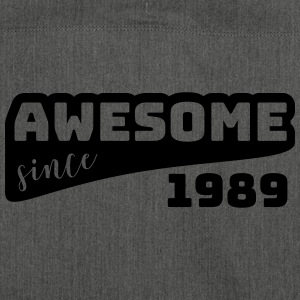 Awesome since 1989 / Birthday-Shirt - Shoulder Bag made from recycled material