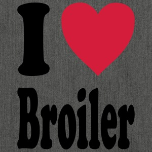 I love Broiler - Schultertasche aus Recycling-Material