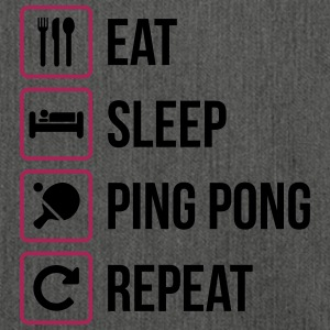 Eat Sleep Ripetere Ping Pong - ping pong - Borsa in materiale riciclato