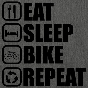 Eat sleep bike - Bicycle - Shoulder Bag made from recycled material