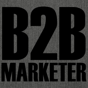 B2B - Marketer - Le professionnel en marketing business - Sac bandoulière 100 % recyclé