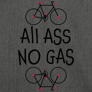 All Ass No Gas - Shirt not just for cyclists - Shoulder Bag made from recycled material