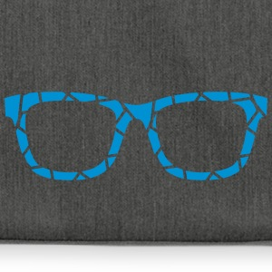 blue glasses - Shoulder Bag made from recycled material