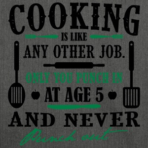 Cooking is like any job - koch - Schultertasche aus Recycling-Material