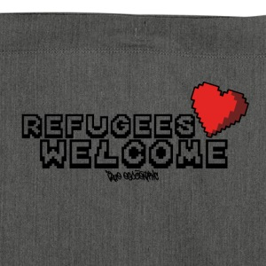 Refugees Welcome Pixel Design - Shoulder Bag made from recycled material