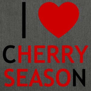 I Love Cherry Season T-Shirt - Shoulder Bag made from recycled material