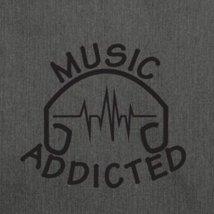 MUSIC_ADDICTED-2 - Bandolera de material reciclado
