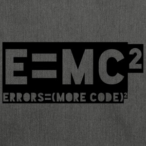 E = mc2 - errors = (more code) 2 - Shoulder Bag made from recycled material