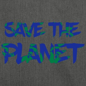 Save the Planet - Rette die Erde - Schultertasche aus Recycling-Material