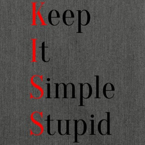 KISS - Keep It Simple Stupid - Schultertasche aus Recycling-Material