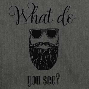 What do you see? - Bandolera de material reciclado