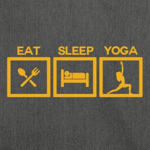 ! Eat Sleep Yoga - cyklus! - Skuldertaske af recycling-material