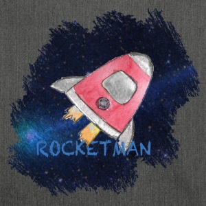 Rocketman - Space ship in the universe Artwork - Shoulder Bag made from recycled material