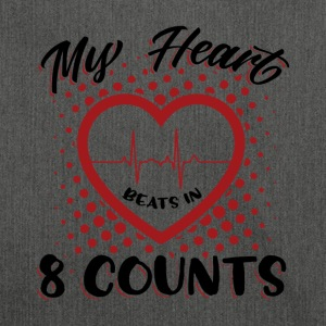 My Heart Beats In 8 Counts - Schultertasche aus Recycling-Material