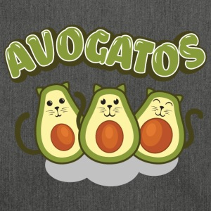 Cat Love> AvoGatos - Funny Avocado Cats - Shoulder Bag made from recycled material