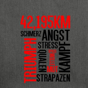 Wordcloud Marathon - Schultertasche aus Recycling-Material