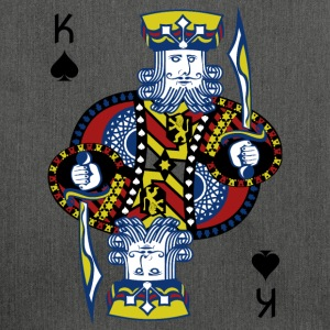 King of Spades Poker Hold'em - Shoulder Bag made from recycled material