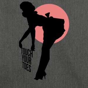 Vintage Girl - Touch Your Toes! - Shoulder Bag made from recycled material