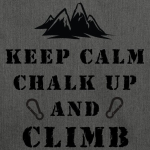 Fjellklatring Keep Calm Chalk Up And Climb - Skulderveske av resirkulert materiale