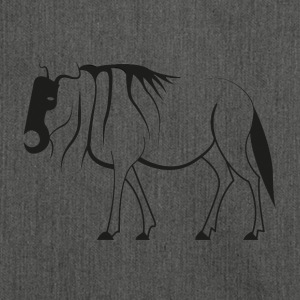 Pictogram of Wildebeest - Shoulder Bag made from recycled material