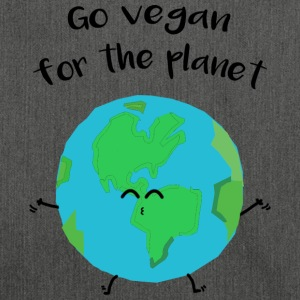 Vegan for the planet -Vegano por el planeta - Bandolera de material reciclado