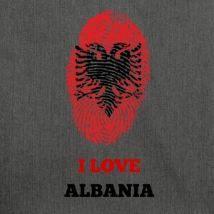 ALBANIA FINGERPRINT T-SHIRT - Shoulder Bag made from recycled material
