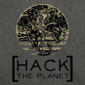 """Hack the planet"" motto T-shirt Camouflage - Shoulder Bag made from recycled material"