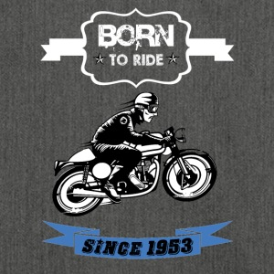 Born to ride - Schultertasche aus Recycling-Material